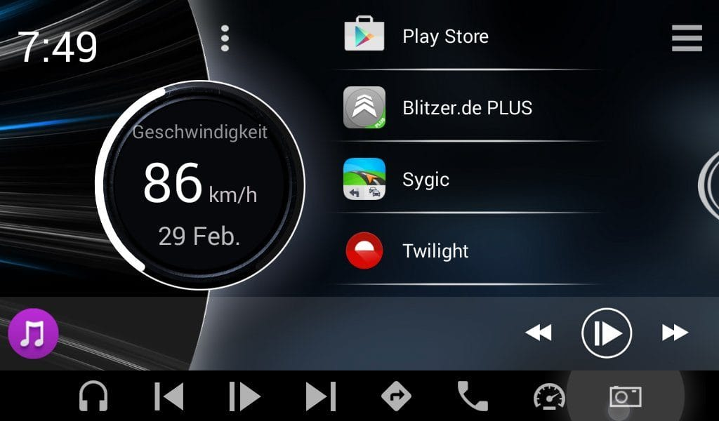 Android Autoradio Apps