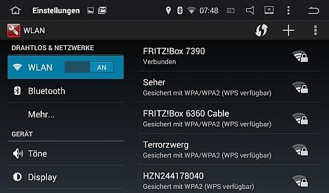 Das Radio ist per WLAN mit meiner Fritzbox verbunden