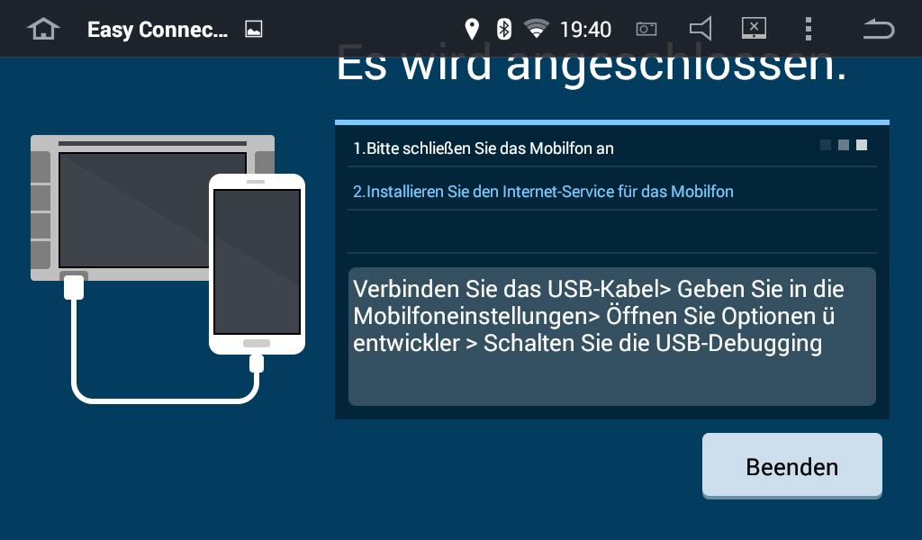 MirrorLink mit einem Android Autoradio und einem Smartphone