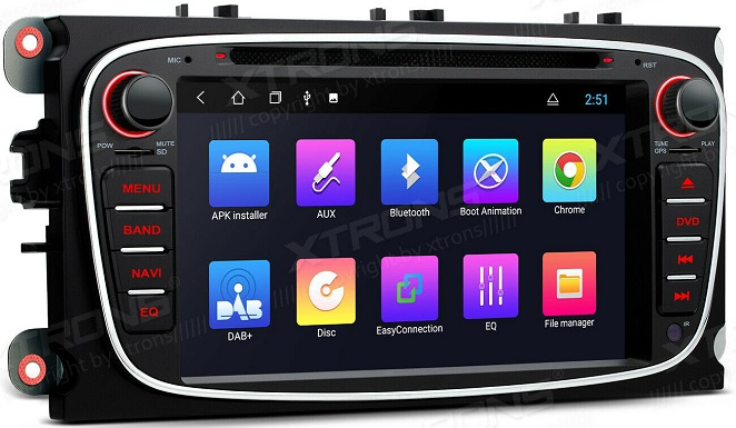 Xtrons Android 10 für Ford Focus Mondeo